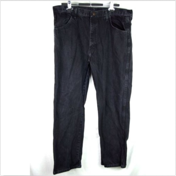 Rustlers Other - Rustlers mens black straight leg relaxed fit jeans